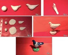 Asociación de Belenistas de Badajoz - Hacer Palomas para Nuestro Belén raccolta miniature oggetti e animali Clay Crafts, Diy And Crafts, Crafts For Kids, Polymer Clay Miniatures, Dollhouse Miniatures, Minis, Dollhouse Tutorials, Miniature Crafts, Air Dry Clay