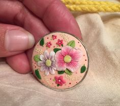 Anillo flores arcilla polimerica. Polymer clay flowers ring