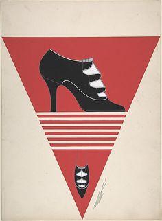 Shoe Design for Delman's Shoes, New York Erté (Romain de Tirtoff) (French (born Russia), St. Petersburg 1892–1990 Paris) Date: 1934