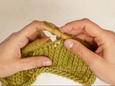 Knit into 2 yo, by Garnstudio Drops Design. Pinned from vimeo.