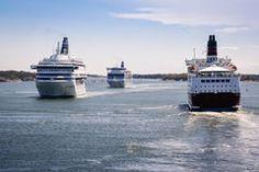 Tráfico en el mar Fotografía de archivo libre de regalías