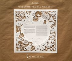 Woodland Papercutsbespoke order Twin Trees ketubah just