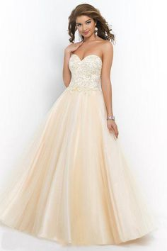 Super Champagne Prom Dresses A-line Sweetheart Appliques Lace Evening Gowns Lace Up Beaded Women Special Occasion Party Dress Canada On Line