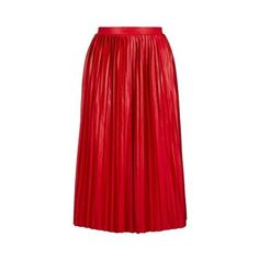 TopShop Jersey Pleated Midi Skirt ($39) ❤ liked on Polyvore featuring skirts, red, topshop skirts, mid calf skirts, red jersey, textured skirt and knee length pleated skirt
