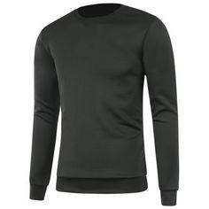 Plain Long Sleeve Crew Neck Sweatshirt