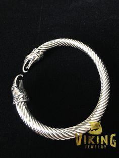 Viking Raven Steel Bracelet