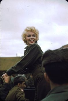 A rare colour photo of Marilyn Monroe in Korea from Robert H Mckinley's collection, February 1954.