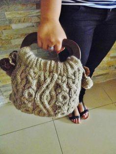 Romantic Knitted bag Knitted bag Handmade bag handmade