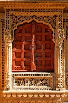 carve: India, Rajasthan, Jaisalmer: Jain Temple, carved frame of a typical window Stock Photo Source