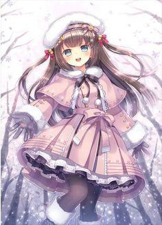 Kawaii little anime girl with brown hair and light blue eyes Manga Girl, Manga Pokémon, Manga Kawaii, Loli Kawaii, Kawaii Anime Girl, Cool Anime Girl, Pretty Anime Girl, Beautiful Anime Girl, Anime Girls