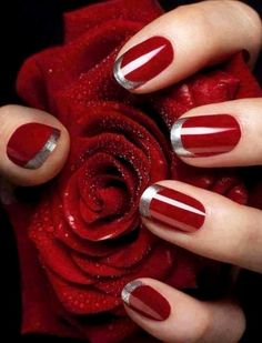 89 Most Fabulous Valentine's Day Nail Art Designs - What do you think of giving your hands a romantic look on Valentine's Day? The easiest way to get catchy hands and make them more gorgeous is to chang... - valentines day nails (72) ~♥~ ...SEE More :└▶ └▶ http://www.pouted.com/89-most-fabulous-valentines-day-nail-art-designs/