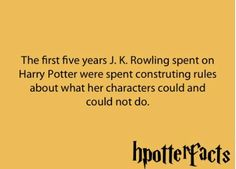harry potter facts - jk Rowling - Theres so much more behind the books and so much dedication