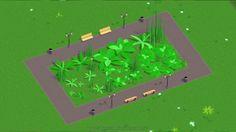 Habe #Pflanzen für einen neuen #Parkitect Mod modelliert. #lowpoly #3dmodeling