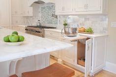 Gorgeous White Kitchen, interior design, kitchen inspiration, kitchen remodeling, lift up mixer cabinet