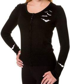 Stylish Scoop Collar Long Sleeve Bat Print Women's KnitwearSweaters & Cardigans | RoseGal.com