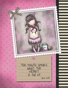 Luke The mouth speaks what the HEART is full of Luke 6 45, Bible Verses, Delicate, Faith, Graphic Design, Heart, Frame, Picture Frame, Scripture Verses