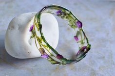 Unique Scottish thistle design, entirely made and shaped by hand. Made in UK. Jewelry Hanger, Jewelry Box, Flower Packaging, Scottish Thistle, Made In Uk, Real Flowers, One Design, Green And Purple, Pansies