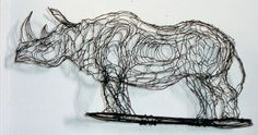 rhino wire sculpture