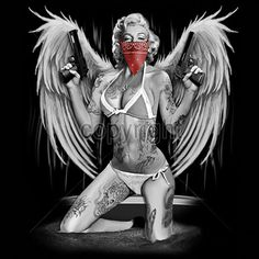 Hey, I found this really awesome Etsy listing at http://www.etsy.com/listing/176265606/marilyn-monroe-angel-wings-tattoo-bandit