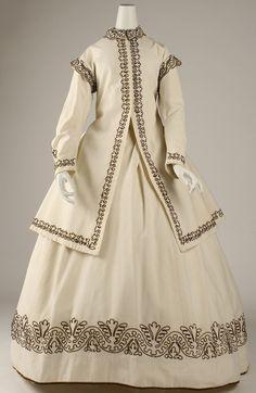 Dress Date: ca. 1865 Culture: British Medium: cotton, wool