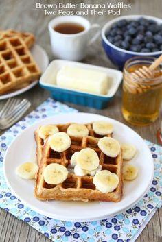 Brown Butter Banana Waffles | www.twopeasandtheirpod.com #recipe