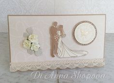 Luxury Wedding Handmade Money/Voucher/Gift Card envelope/wallet marriage, handmade card, shabby chic