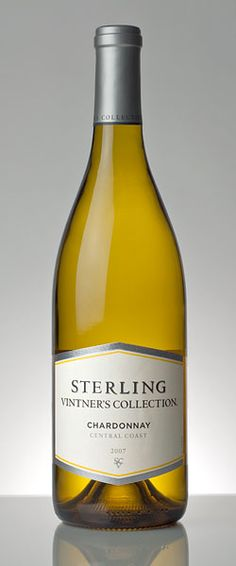 The 2012 Sterling Vintner's Collection Chardonnay has apple and pear flavors with a hint of lemon and a buttery finish.