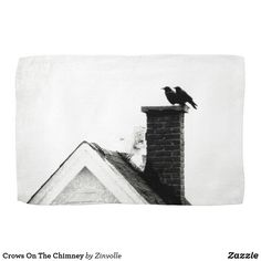 Crows On The Chimney Towel Crows, Diy Face Mask, Clean Up, Dog Design, Funny Cute, Dog Cat, Art Pieces, Towel, Kids Shop