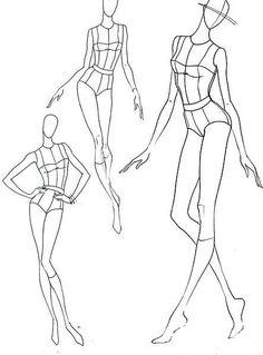 Fashion illustration poses faces Ideas for 2019 Fashion Drawing Tutorial, Fashion Figure Drawing, Fashion Model Drawing, Fashion Design Drawings, Fashion Sketches, Fashion Illustration Poses, Fashion Illustration Template, Illustration Mode, Illustrations