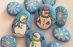 steine bemalen weihnachtsdeko selber machen