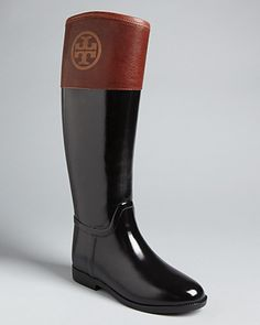 Tory Burch Riding Rain Boots - Finally rain boots, that look like regular boots! Adorbs