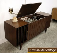 Mid Century Modern Zenith ML2670-3 Stereo Console Record Player|Furnish Me Vintage -OMgosh, my parents had one similar to this one.