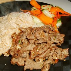 Korean BBQ Beef (Pul-Kogi) Recipe.  Might try this for freeze-ahead Korean tacos.