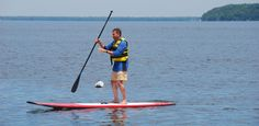 Paddle-boarding at The Tyler Place Family Resort on Lake Champlain, Vermont.