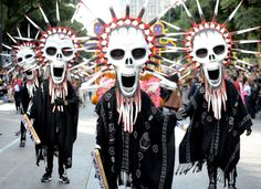 The Catrina Fest parade to celebrate Day of the Dead, Oct. 29, Mexico