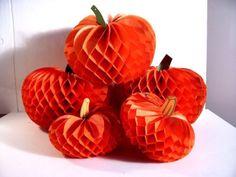 vintage Beistle Halloween honeycomb pumpkin lot