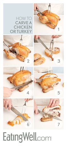 Easy Steps to Carve a Turkey or Chicken
