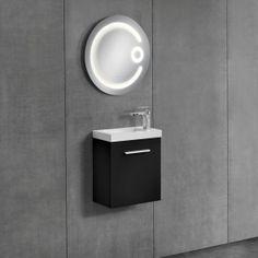 [neu.haus] Mobiletto da bagno con lavabo e specchio 204,00 € Decor, Wall, Filing Cabinet, Wall Lights, Vanity, Door Handles, Vanity Units, Diy Plumbing, Home Decor