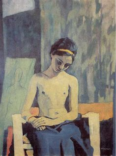 Felice Casorati (1883-1963) was an Italian painter, sculptor, and printmaker. The paintings for which he is most noted include figure compositions, portraits and still lifes, which are often distinguished by unusual perspective effects.
