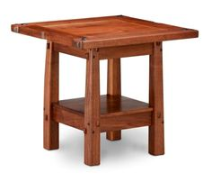 Greene & Greene Style Tea Table  This is a recreation of the Greene and Greene Tea Table (by Austin Wood Furniture & Chris Matthews Woodworking). I have only seen one photo of this table in a book and so the dimensions and scale are not an exact reproduction of the original. The table is all of Walnut with Ebony pegged through tenons. The finish is hand rubbed oil and wax. Table size: 19 wide x 17 high x 18 deep. Call for price.