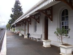 The train station in Matjiesfontein, one of the stops on our Cape Town, the Blue Train & Kruger National Park rail tour http://www.greatrail.com/tours/cape-town-the-blue-train-and-kruger/