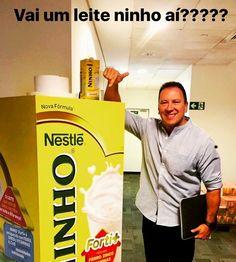 Reunião na Nestlé! Olioli expandindo novos negócios!!! Mas antes uma pausa pra um Nescau e um leite ninho