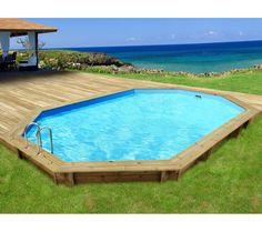 Piscine Carrefour promo piscine pas cher Carrefour, achat HABITAT & JARDIN Piscine RIO en bois - Octogonale - 5,60 x 3,70 x 1,24 m prix prom...