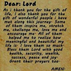 I thank GOD 4 my family and true friends.