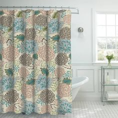 Bounce Comfort Oxford Weave Textured 13-Piece Shower Curtain Set with Metal Roller Hooks