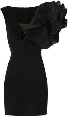 Elegant Dresses, Nice Dresses, Short Dresses, Fabulous Dresses, Couture Dresses, Fashion Dresses, Women's Fashion, Fashion Tips, Black Ruffle Dress