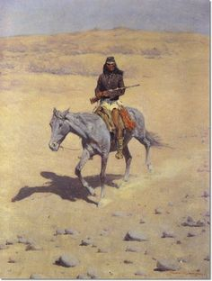 Image detail for -Frederic Remington - Apache Scout by Frederic Remington…