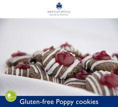 Check the Recipe for the delicious Gluten-free Poppy cookies Gluten Free Bakery, Gluten Free Flour, Gluten Free Cookies, Gluten Free Desserts, Gluten Free Recipes, Great Recipes, Raspberry, Baking, Breakfast