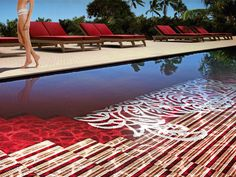 Beautiful Swimming Pool Design with Glass Mosaic Tiles by Sicis Pool. ideas, backyard, patio, diy, landscape, deck, party, garden, outdoor, house, swimming, water, beach.