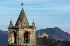 Il campanile del Folatone (Vaie), la Sacra e il Musinè  #myValsusa 09.03.17 #fotodelgiorno di Silvano Gallino